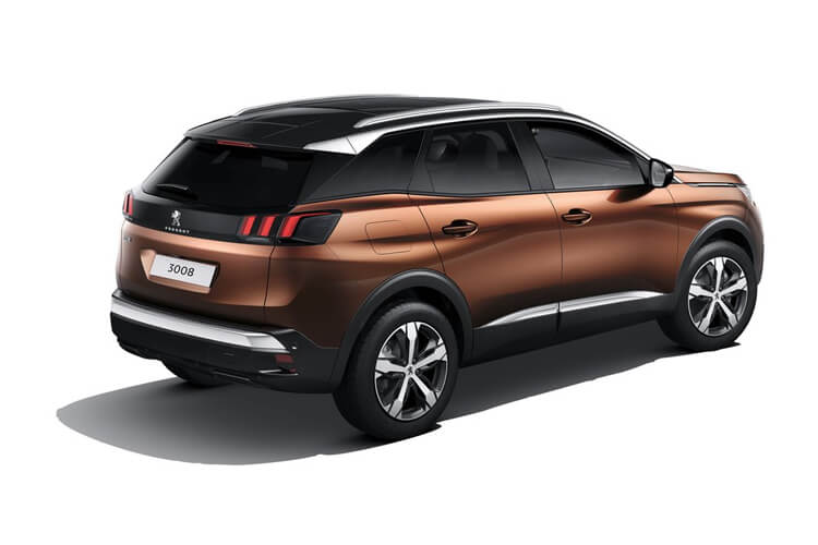Peugeot 3008 SUV HYBRID 1.6 PHEV 13.2kWh 225PS Allure 5Dr e-EAT [Start Stop] back view