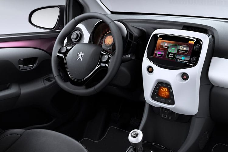 Peugeot 108 Hatch 3Dr 1.0  72PS Active 3Dr Manual [Start Stop] inside view